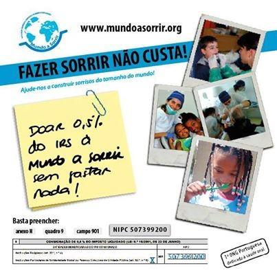 Imagem da notícia: Ajude a Mundo a Sorrir através do seu IRS!