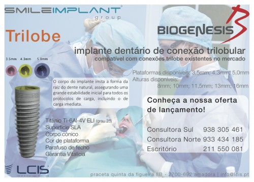 Imagem da notícia: SmileImplant com implantes Trilobe da Biogenesis