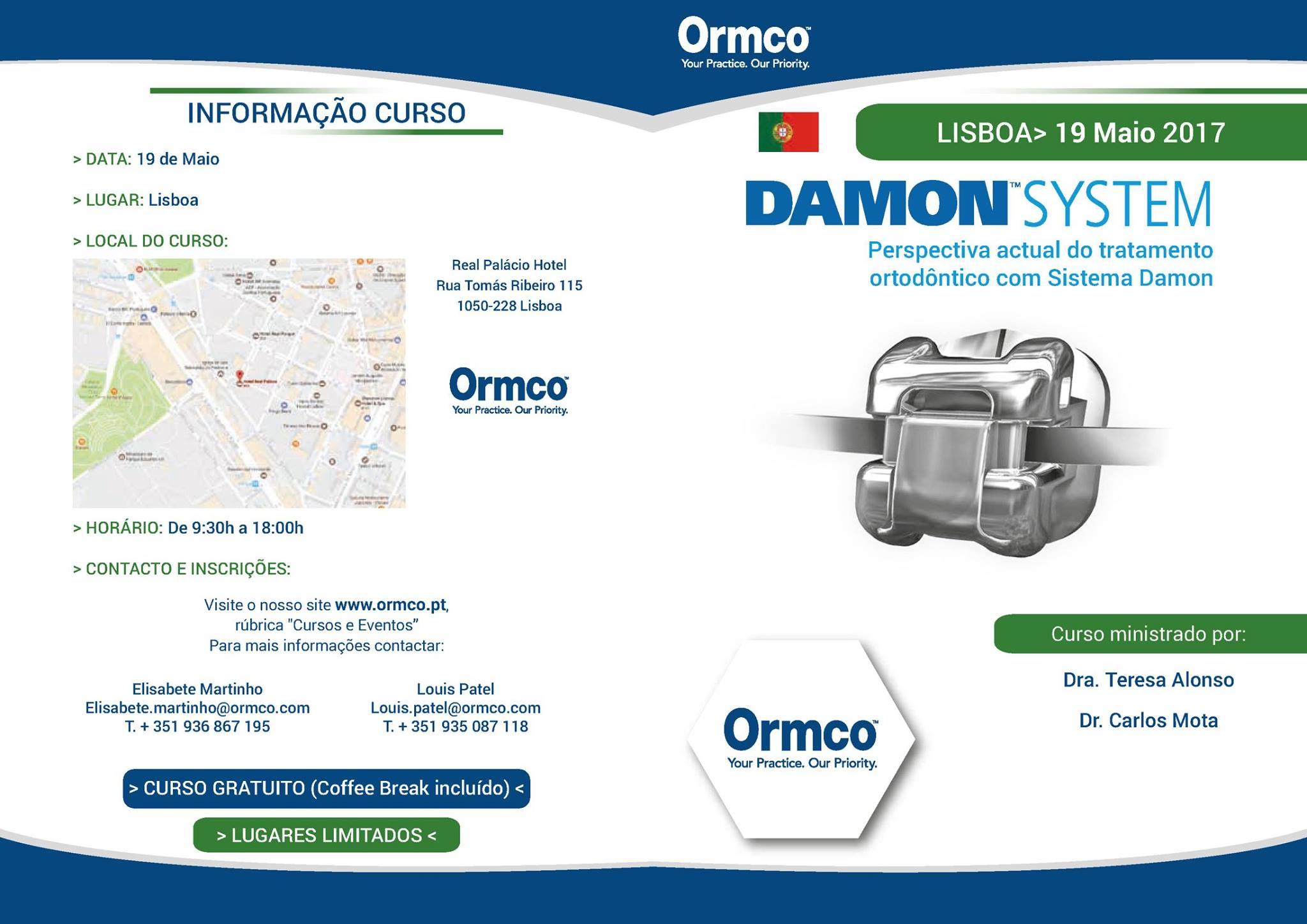 Imagem da notícia: Ormco organiza curso em Lisboa