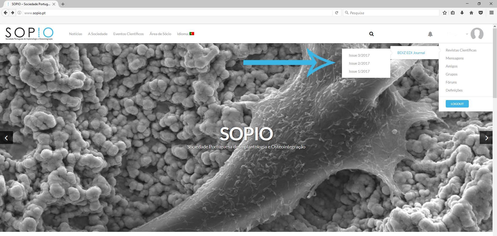 Imagem da notícia: EJOI é agora a revista científica oficial da SOPIO