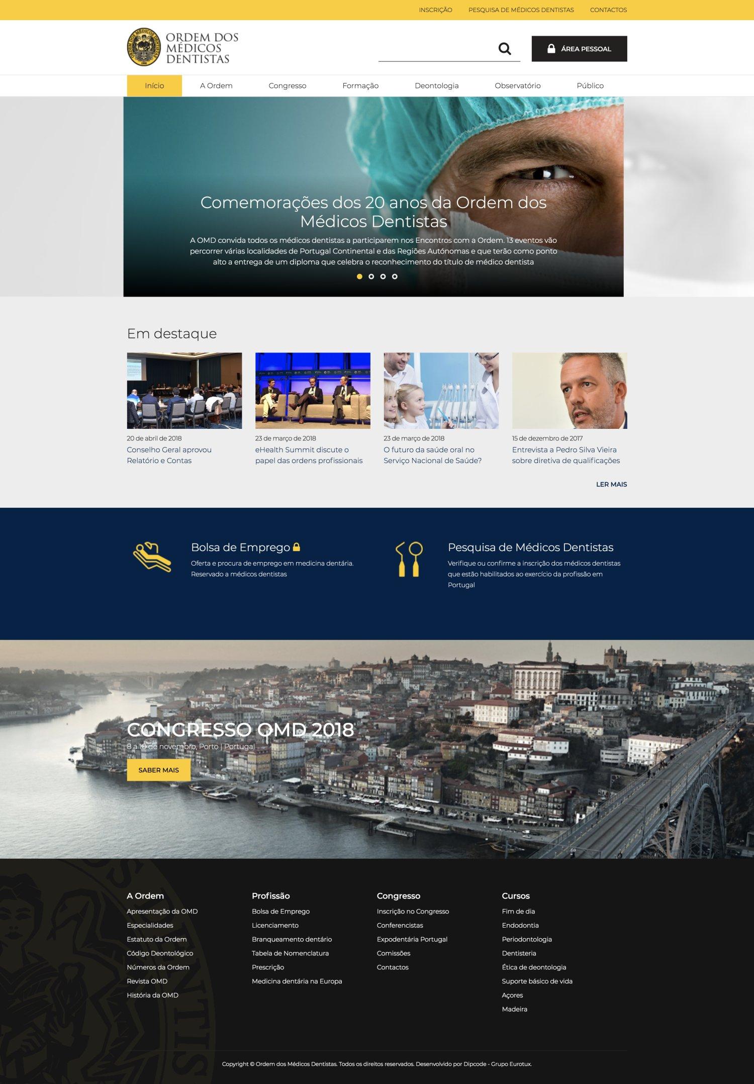 Imagem da notícia: OMD apresenta novo site