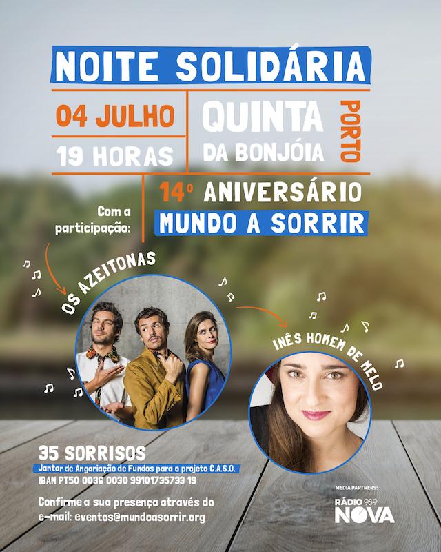 """Imagem da notícia: Está a chegar a """"Noite Solidária"""" da Mundo A Sorrir"""