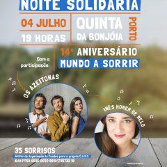 """Imagem da notícia: Mundo A Sorrir organiza """"Noite Solidária"""" no Porto"""