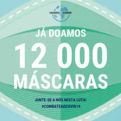 Imagem da notícia: Mundo A Sorrir já distribuiu 12.000 máscaras  aos hospitais