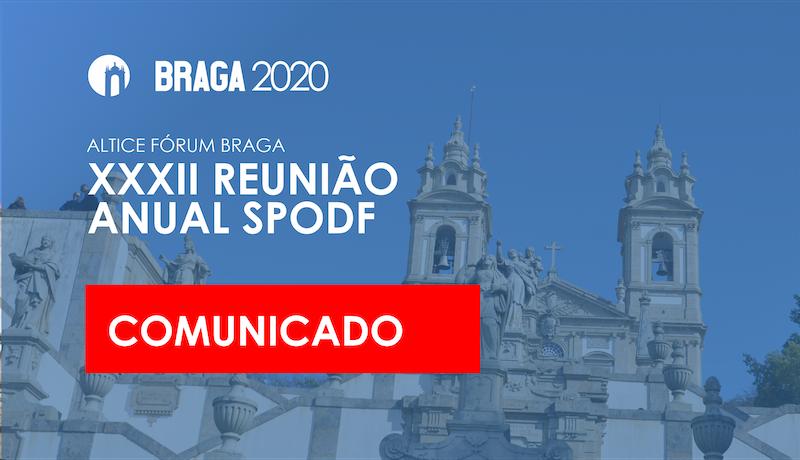 Imagem da notícia: Covid-19: Reunião da SPODF irá realizar-se em 2021
