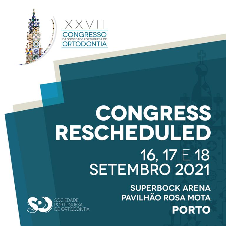 Imagem da notícia: Congresso da Sociedade Portuguesa de Ortodontia adiado para 2021