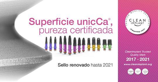 Imagem da notícia: BTI UnicCa® renova selo CleanImplant até 2021