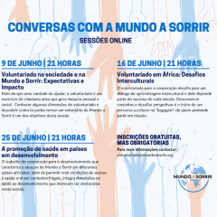 Imagem da notícia: Mundo A Sorrir convida a falar sobre o voluntariado