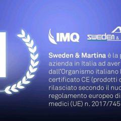 Imagem da notícia: Sweden & Martina, a 1ª empresa em Itália com atualização do certificado CE