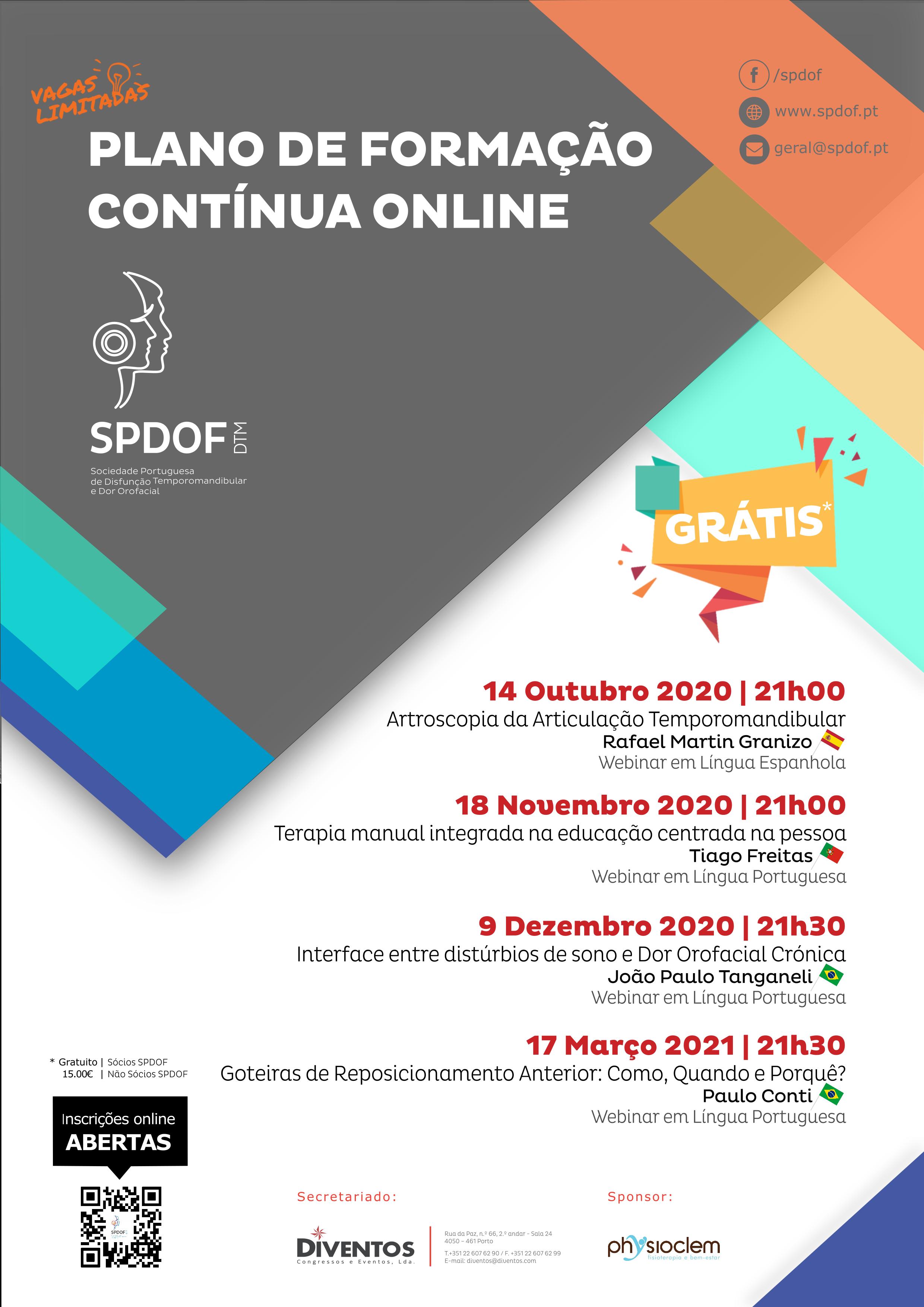 Imagem da notícia: SPDOF realiza Programa de Formação Contínua Online