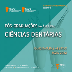 Imagem da notícia: CESPU abre candidaturas a Pós-Graduações na Área das Ciências Dentárias