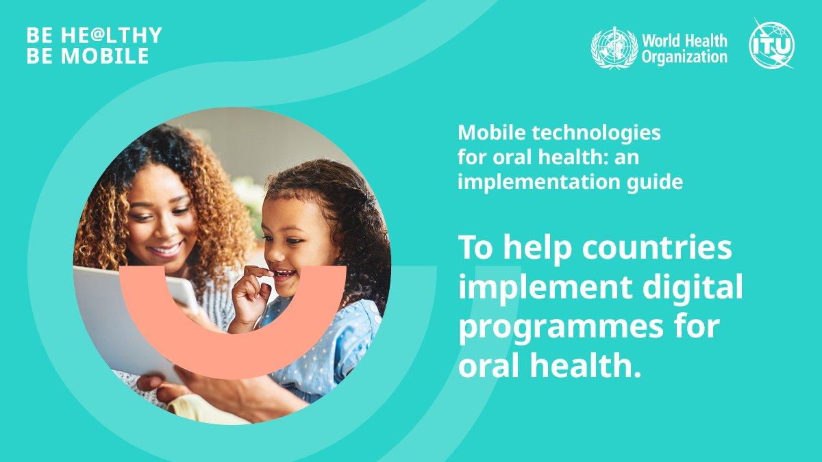 Imagem da notícia: OMS apresenta guia para implementar tecnologias móveis na saúde oral